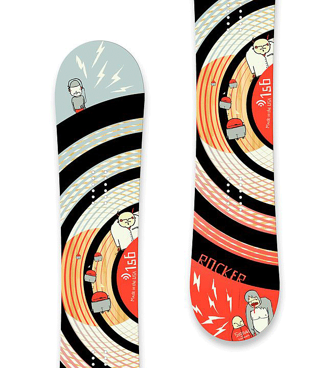 Signal Rocker | Skateboard Design by M80 Branding, Portland OR - Large