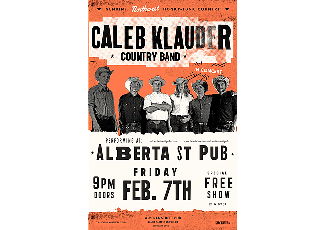 Caleb Klauder | Music Poster Design by M80 Design, Portland OR - Large