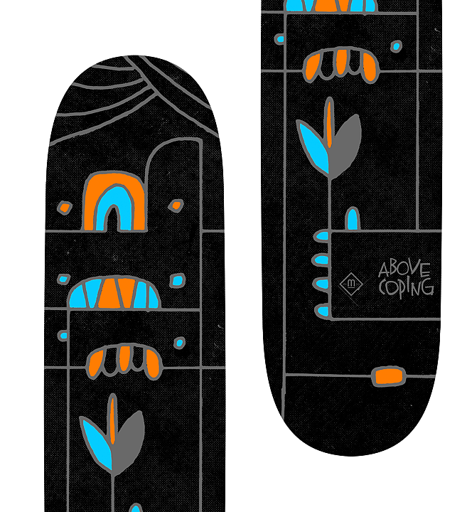 Totem | Skateboard Design by M80 Branding, Portland OR - Large