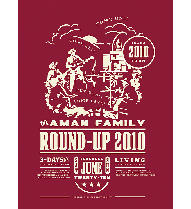 Round-Up | Music Poster Design by M80 Design, Portland OR - Large