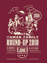 Round-Up | Music Poster Design by M80 Design, Portland OR