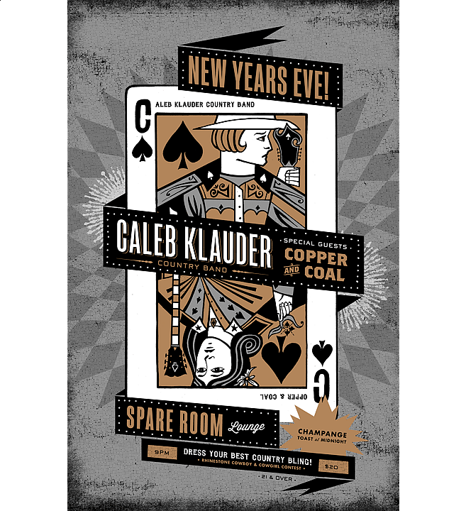 New Years 2014 | Music Poster Design by M80 Design, Portland OR - Large