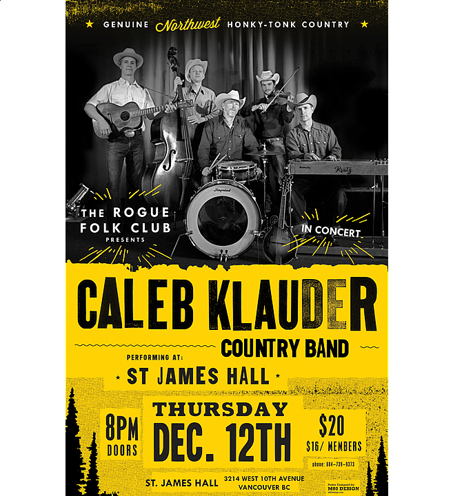 Caleb Klauder Tour Poster | Music Poster Design by M80 Design - Large