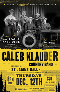 Caleb Klauder Tour Poster | Music Poster Design by M80 Design