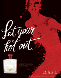 Yazi Vodka Ad & Poster | Poster Design by M80 Design, Portland OR
