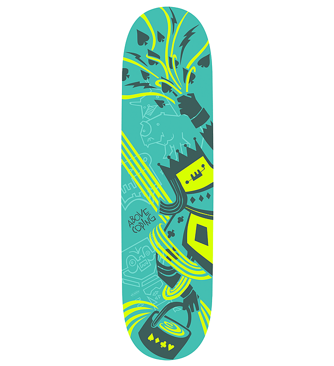 Rainmaker | Skateboard Design by M80 Branding, Portland OR - Large